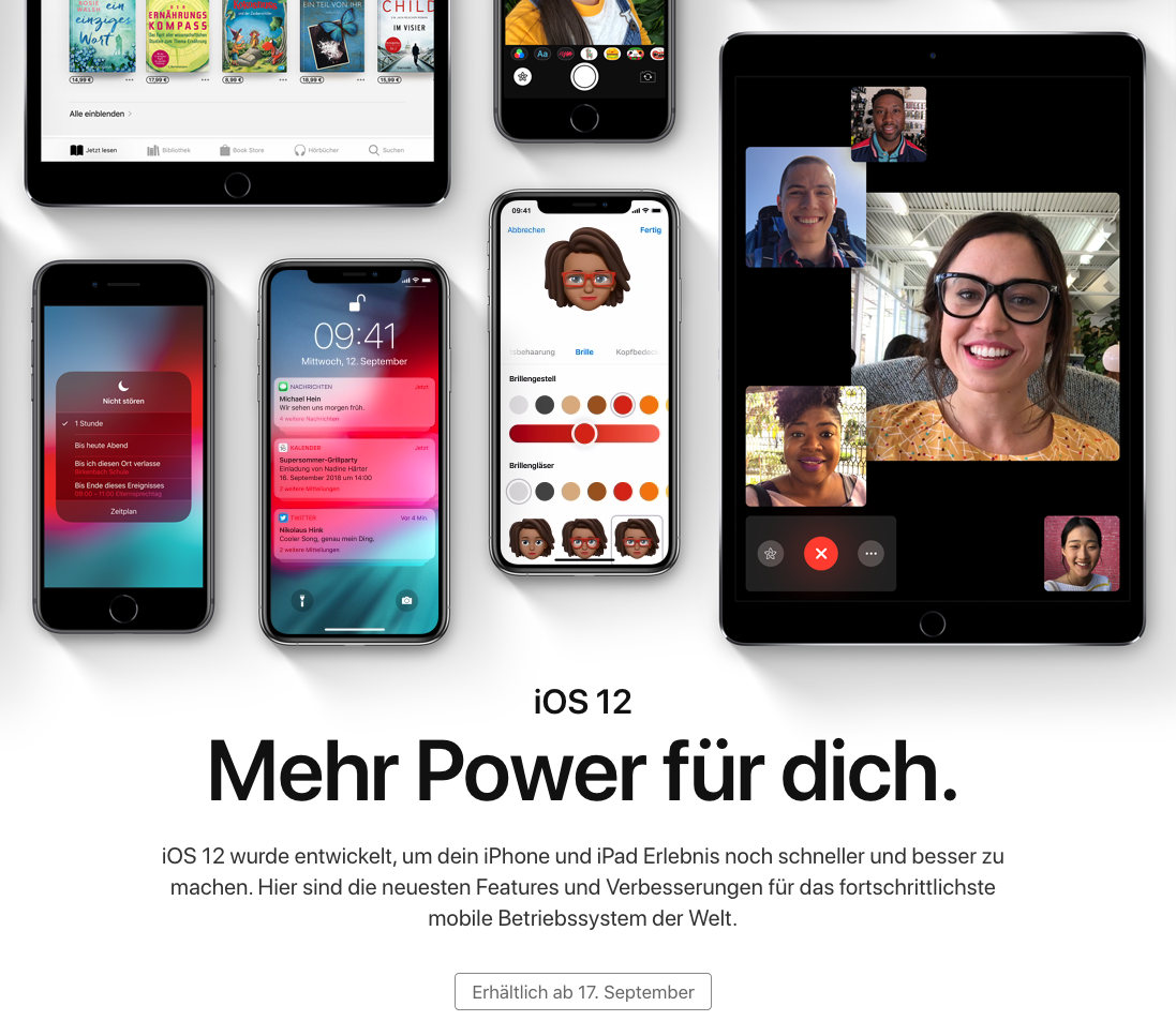 Apples iOS 12 steht in den Startlöchern!